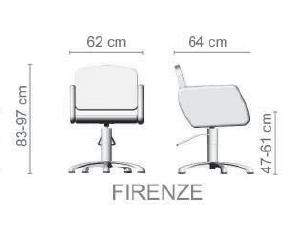 Foto friziera krēsls Ceriotti Firenze izmēri