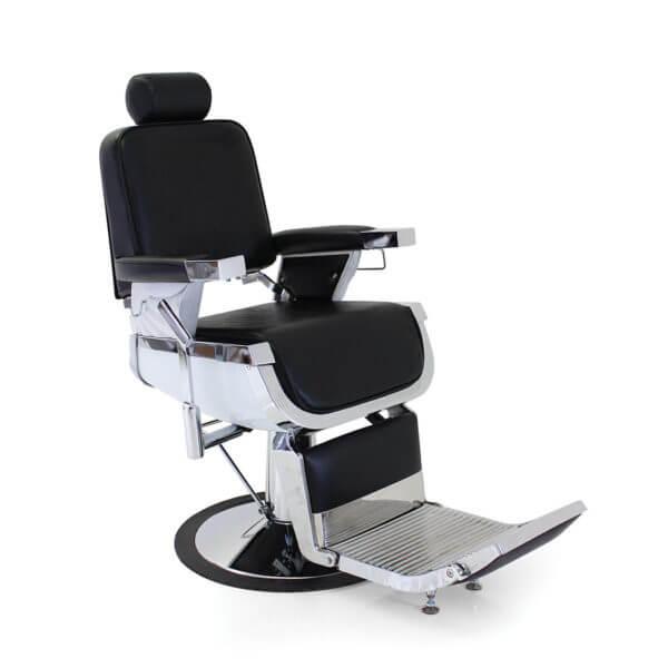 Foto bārddziņa krēsls barber chair REM Emperor Classic Black