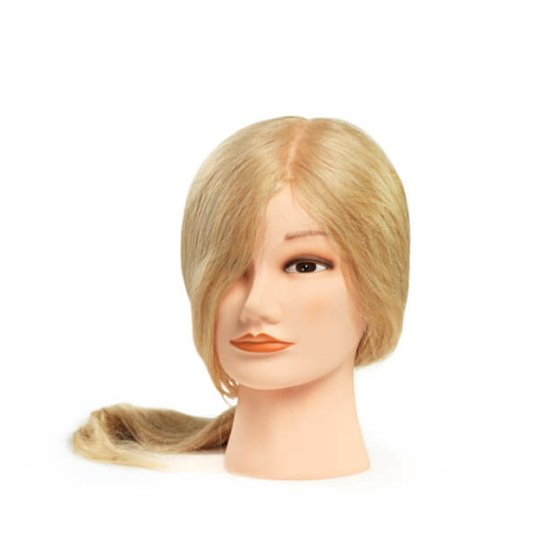 Foto Blonda Manekena galva L 45-50cm dabīgi mati 9867