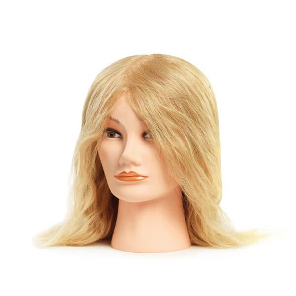 Foto Blonda Manekena galva M 35-40cm dabīgi mati 9866