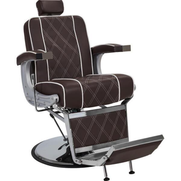 Foto Borg barber krēsls brūns 1