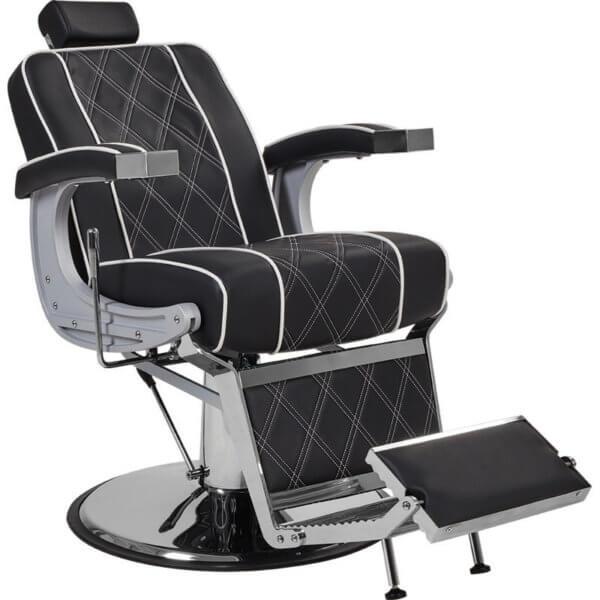 Foto Borg barber chair krēsls melns 1
