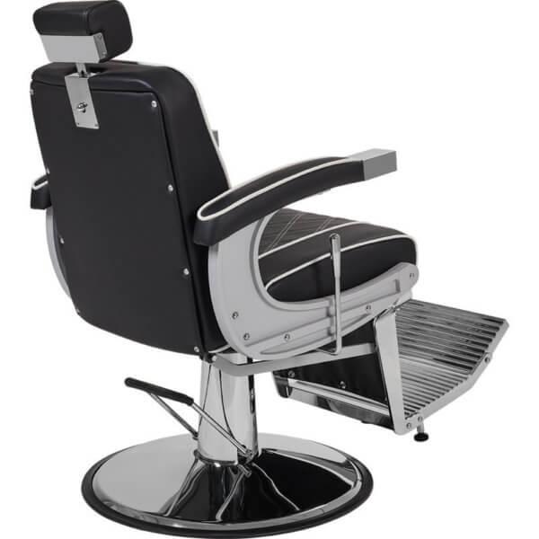 Foto Borg barber chair krēsls melns 3