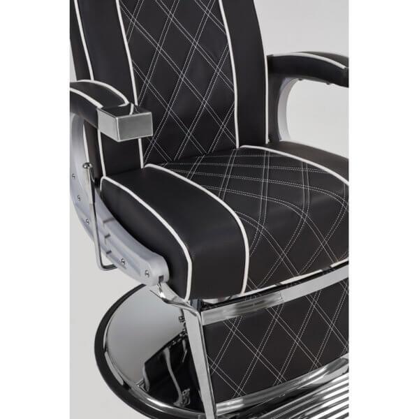 Foto Borg barber chair krēsls melns 4