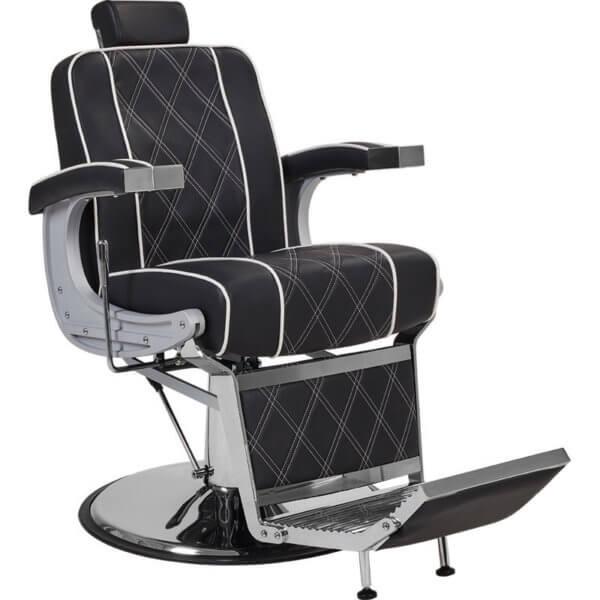 Foto Borg barber chair krēsls melns