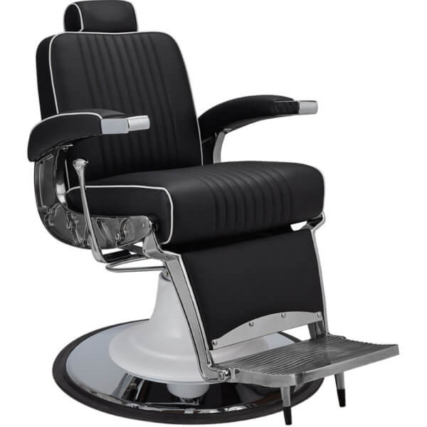 Foto Ayala Stig barber krēsls melns 1