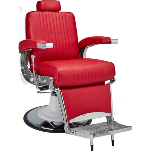 Foto Ayala Stig barber krēsls sarkans