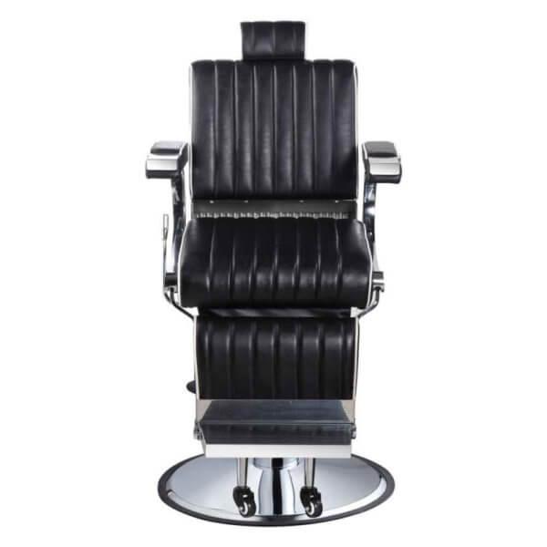 Foto Belgrano barber krēsls melns 2