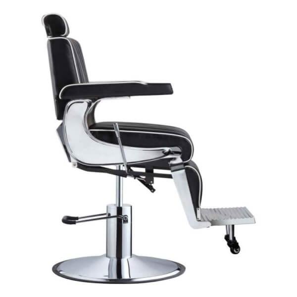 Foto Belgrano barber krēsls melns 3
