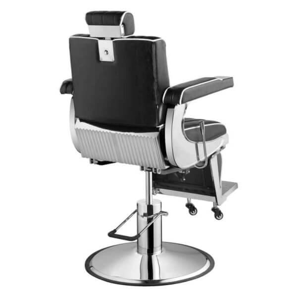 Foto Belgrano barber krēsls melns 4