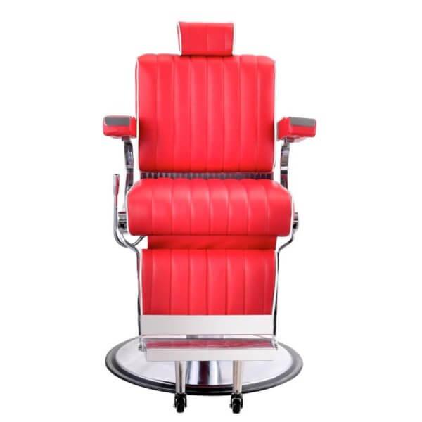 Foto Belgrano barber krēsls sarkans 2
