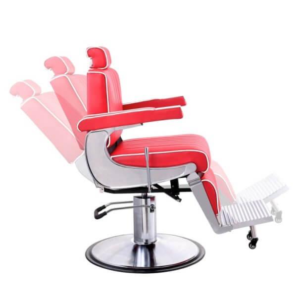 Foto Belgrano barber krēsls sarkans 3