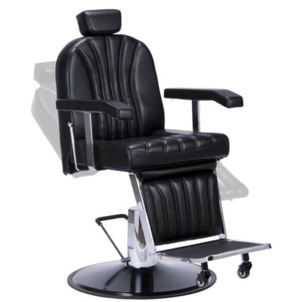 Foto Giulio barber krēsls melns 3