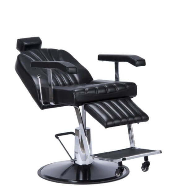 Foto Giulio barber krēsls melns 5