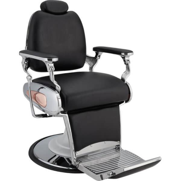 Foto Tiger barber krēsls melns 1