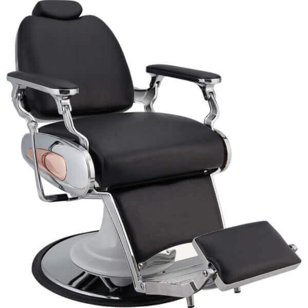 Foto Tiger barber krēsls melns 2