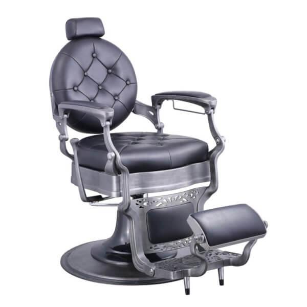 Foto Vanquish Brushed barber krēsls melns matēts 1