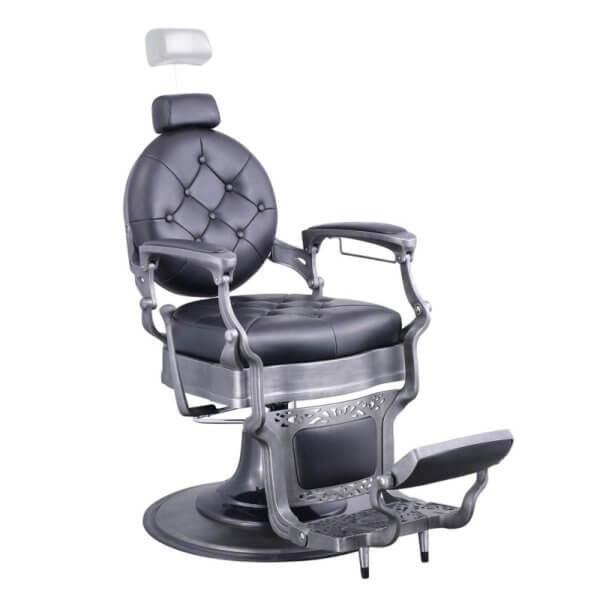 Foto Vanquish Brushed barber krēsls melns matēts 2