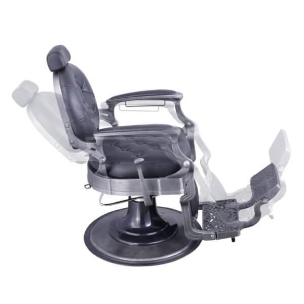 Foto Vanquish Brushed barber krēsls melns matēts 3