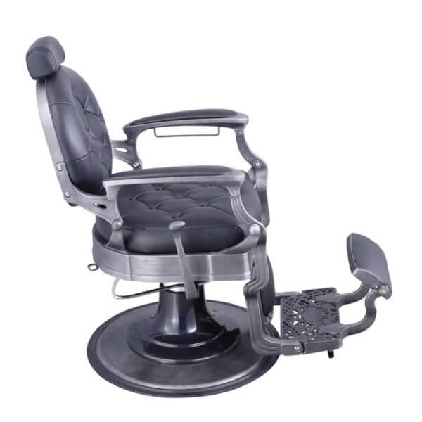 Foto Vanquish Brushed barber krēsls melns matēts 4