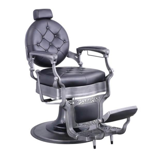 Foto Vanquish Brushed barber krēsls melns matēts 6