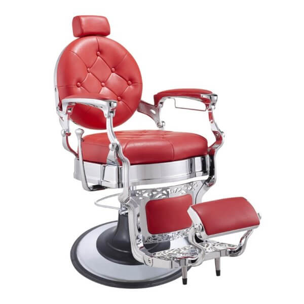 Foto Vanquish Chrome barber krēsls 1