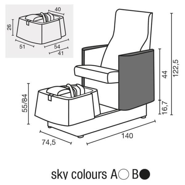 Foto pedikīra krēsls Atlantis skice