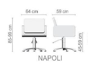 Foto Friziera krēsls Ceriotti Napoli izmēri