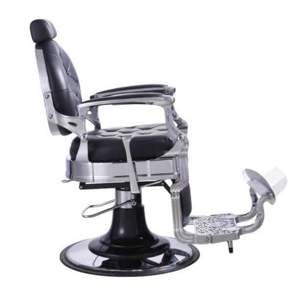 Foto Vanquish Chrome barber krēsls melns 5