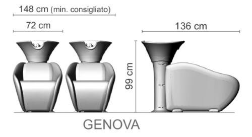 Foto friziera izlietne Ceriotti Genova izmēri