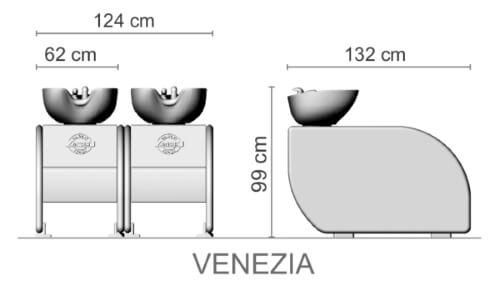 Foto Friziera izlietne Ceriotti Venezia izmēri