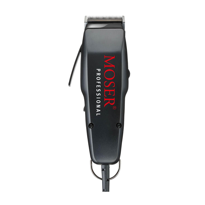 Attēls Moser 1400-0087 matu mašīnīte melna ar lielo uzrakstu
